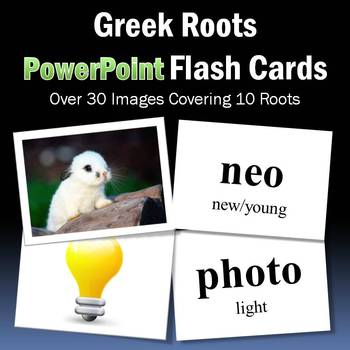Vocabulary Activities   Greek Roots PowerPoint Flash Cards Part 2