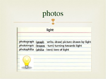 Greek Roots PowerPoint Notes