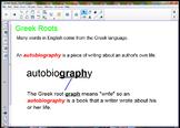 Greek Roots SmartBoard Lesson
