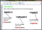 Latin Roots SmartBoard Lesson