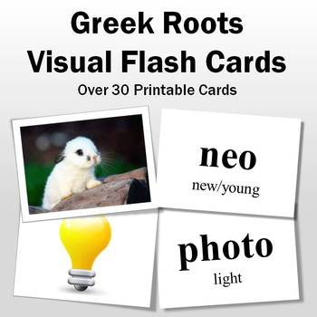 Vocabulary Activities | Greek Roots Visual Flash Cards Part 2