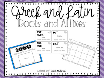 Greek Roots and Affixes