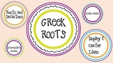 Greek Roots and Definitions  Wall Cards, Word Center, and