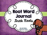 Greek Roots Student Journal Booklet with Student-friendly definitions included