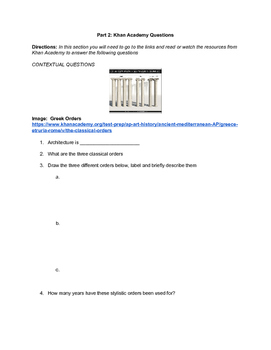 AP ART HISTORY: Greek Study Guide- Khan Academy and Gardners