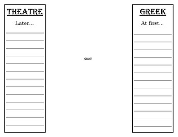 Greek Theatre Foldable