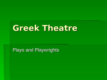 Greek Theatre PPT 2