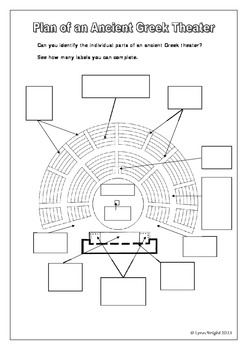 Greek Theatre Plan (2 activities - bell ringer / review & scavenger hunt)