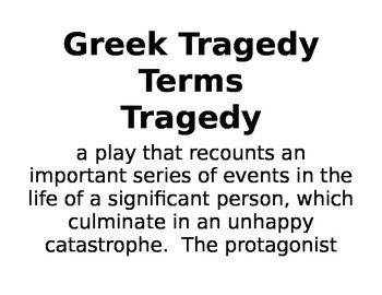 IR Greek Tragedy Terms (Sophocles) for Background info to print