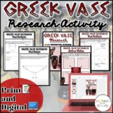Greek Vase Research Activity {Digital AND Paper}