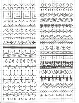 Greek Vase Worksheets And Pattern Samples By Artsycat Tpt