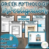 Greek Mythology WebQuest {Digital AND Paper} Distance Learning