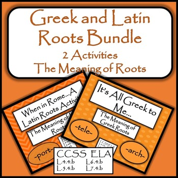 Greek and Latin Roots Bundle - 2 Activities - The Meaning of Roots