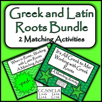 Greek and Latin Roots Bundle - 2 Matching Activities