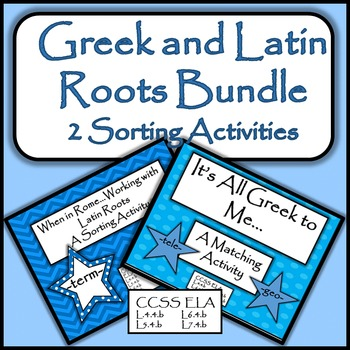 Greek and Latin Roots Bundle - 2 Sorting Activities