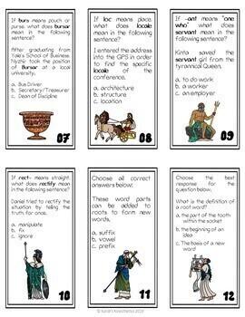 Greek and Latin Affix Task Cards