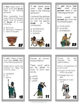 Greek and Latin Affix Task Cards