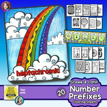 Number Prefixes Coloring Activities for Greek and Latin