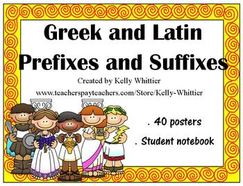Greek and Latin Prefixes and Suffixes - 40 Posters and Student Notebook