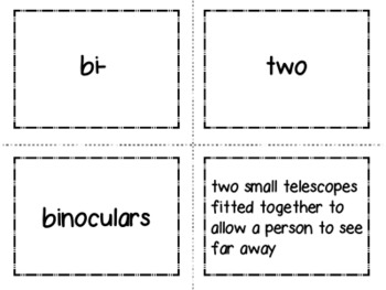 Greek and Latin Root Cards