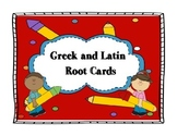 Greek and Latin Root Cards (Larger Size)