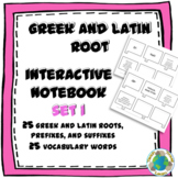 Greek and Latin Root Interactive Notebook Activity