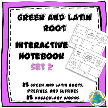 Greek and Latin Root Interactive Notebook Activity Set 2