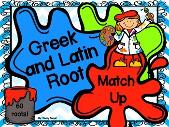 Greek and Latin Root Match-Up