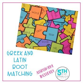Greek and Latin Root Matching Game