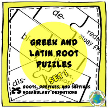 Greek and Latin Root Puzzles