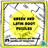 Greek and Latin Root Puzzles Set 1