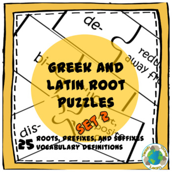 Greek and Latin Root Puzzles Set 2