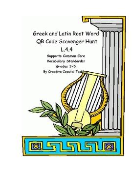 Greek and Latin Prefixes QR Code Scavenger Hunt L.4.4