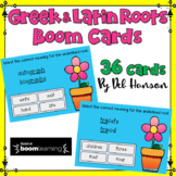 Greek and Latin Root Task Cards: BOOM Cards