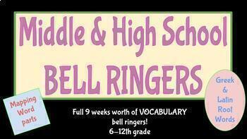 Greek and Latin Root Vocabulary Bell Ringers 6-12