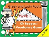 Greek and Latin Root Vocabulary Game - Oh Boogers! Week 4