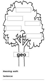 Greek and Latin Roots Vocabulary Tree FREEBIE