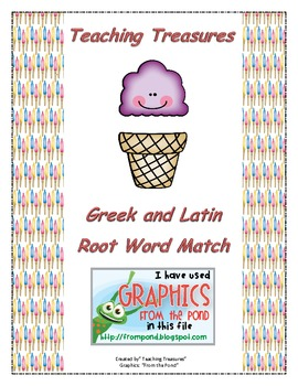 Greek and Latin Root Word Matching Game Game