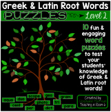 Greek and Latin Roots Puzzles Level 2