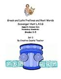 Greek and Latin Root Word Scavenger Hunt Set 3