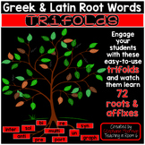 Greek and Latin Root Word Trifolds