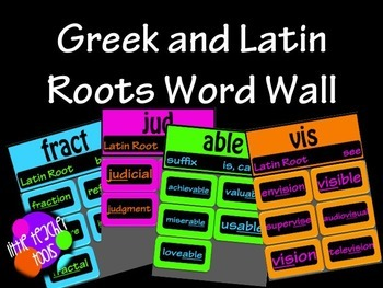 Greek and Latin Root Word Wall