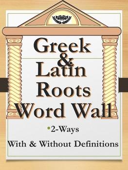 Greek and Latin Root Word Wall Set