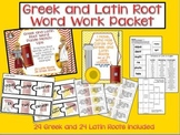 Greek and Latin Root Word Work Packet