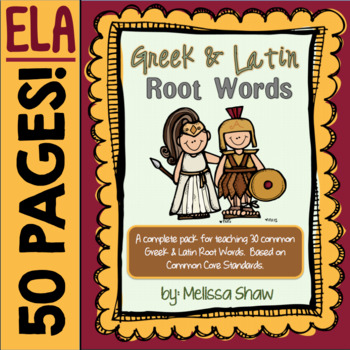 Greek and Latin Root Words Complete Activity Pack!