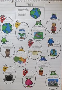 Greek and Latin  Root Words Free Sample Week