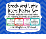 Greek and Latin Root Words Poster Set (Print and Cursive Sets)
