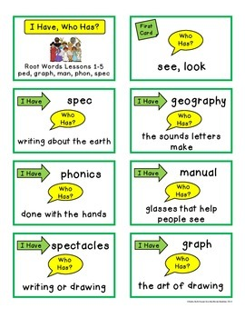 Root Words Greek and Latin