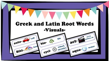 Greek and Latin Root Words- Visual- Common Core