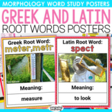 Greek and Latin Root Words Word Wall Cards and Posters